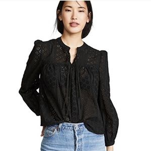 Madewell pretty eyelet peasant top